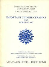 SOTHEBY'S CHINESE CERAMICS WORKS OF ART Auction Catalog