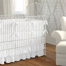 Mini Crib Baby Bedding set 5 Pc Fitted Pillowcase Comforter 3 tier Skirt Bumper