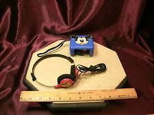 RADIO SHACK Walt Disney MICKEY MOUSE Blue AM Transistor Walkman Radio & headset