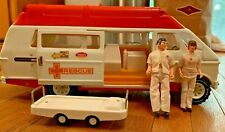 70's Vintage Tonka Ambulance Rescue Van Steel Toy Dolls Gurney