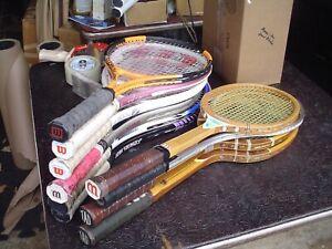 10 - Older Tennis Racquets - Graphite, Wood, Steel