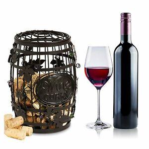 Wine Barrel Cork Cage--Elegant Display Cork Holder Perfect for Bar Lover New