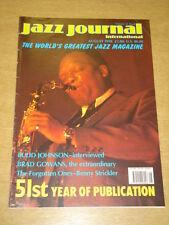 JAZZ JOURNAL INTERNATIONAL VOL 51 #8 1998 AUGUST BUDD JOHNSON BRAD GOWANS