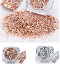 2boxes Nail Art Glitter Dust Powder Acrylic UV Gel Manicure Decor Tips Rose Gold