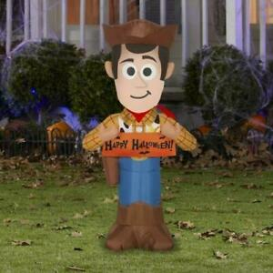 HALLOWEEN 3.5  FT DISNEY TOY STORY WOODY BANNER  AIRBLOWN INFLATABLE