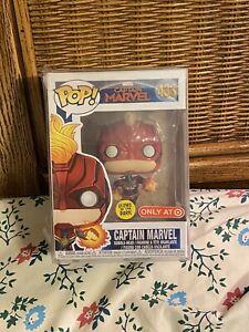 Funko Pop Marvel Captain Marvel Glow In The Dark Target Exclusive