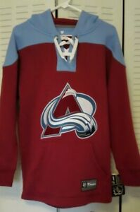 Colorado Avalanche Mens sz S Hooded Sweatshirt NEW w TAGs