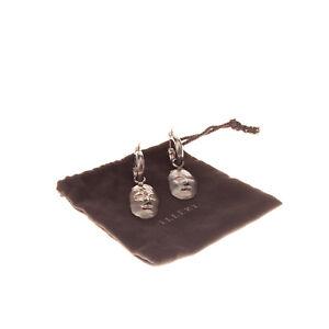 RRP €210 ELLERY Morisco Small Head Earrings Detachable Charm Snap Closure