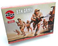 AIRFIX® 1:76 WW2 BRITISH 8th ARMY VINTAGE MODEL KIT SOLDIERS WORLD WAR 2 A00709V