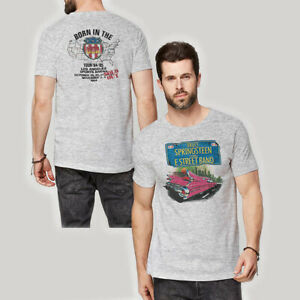 BRUCE SPRINGSTEEN Pink Cadillac Born In The USA Tour T-SHIRT New OFFICIAL Unisex