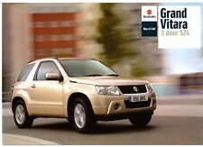 Suzuki Grand Vitara 3-dr SZ4 2.4 2008-09 UK Market Foldout Sales Brochure