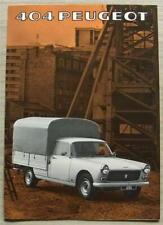 PEUGEOT 404 PICK UP Sales Brochure For 1977 #PP.901