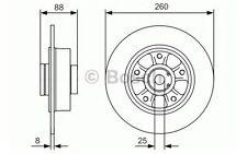 BOSCH Disco de freno (x2) Trasero 260mm RENAULT MEGANE 0 986 479 575