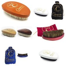 Crown Quality Products 360 Gold Caesar Wave Brush and Bags