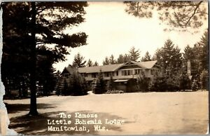 RPPC The Famous Little Bohemia Lodge, Manitowish WI Vintage Postcard N39