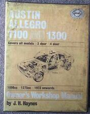 Austin Allegro - Haynes Workshop Manual - 1973 Onwards