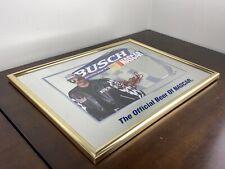 Busch Official Beer Of Nascar Dale Earnhardt Framed Mirror Collectible Rare