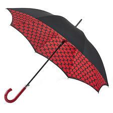 Lulu Guinness 'Bloomsbury' Automático Caminar Paraguas-Labios rejilla