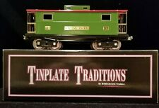 """MTH 10-1055 217 Caboose """"New York"""" Pea Green, Red with Brass/Nickel Trim"""