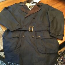 """Barbour Men's """"Owner"""" Waxed Jacket, Navy Blue, Large New With Tags MSRP$499"""