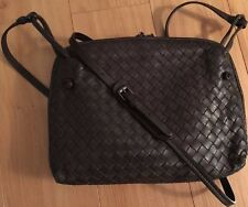 Auth BV Bottega Veneta Pillow Cross Body Intrecciato Ebano Brown Messenger Bag