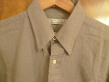 Mens 15 1/2 Beige Editions Van Heusen Long Sleeve Cotton Dress Shirt