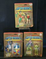 Lot of 3 1989 DC COMICS SUPER HEROES Toy Biz Robin Joker Penguin NEW on Card
