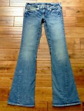 True Religion Joey FACTORY DISTRESSED Flare Jeans SZ 27 (29x33) FABULOUS!