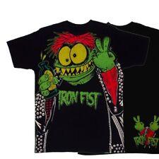 IRON Fist Cutter Punk Nero Da Uomo T Shirt (M)