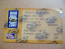 Ticket- Super League Grand Final 13th October 2001