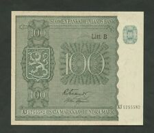 More details for finland 100 markkaa 1945 p87  vf-ef  banknotes