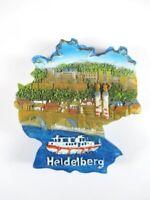 Magnet Heidelberg Brücke Burg Neckar, Polyresin, Souvenir Deutschland Germany