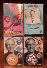 Lot 4 Big Band Cassettes ~ Louis Armstrong, Ted Weems, Kay Kyser ~ Very Good!
