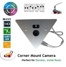 Corner Mountable Camera : 700TVL High resolution W/ 2.8mm Wide Angle Fixed Lens