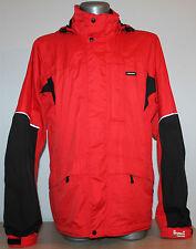 Mens RAISKI DRYMAX Jacket Hooded Waterprooof Breathable Red Ski Outdoor Snow L