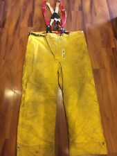 Firefighter Turnout Bunker Pants Globe Early 80s 44x32 Costume Vintage
