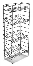 For Sale Floor Flat or Slanted 4 Shelf Wire Display Rack (Black)