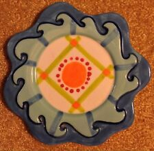 Colorful Shannon McGraw for Ganz Decorative Plate/Candle Holder