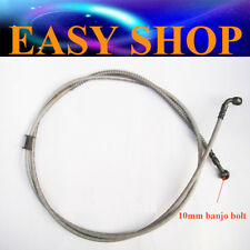 1500mm Braided Hydraulic Master Cylinder Brake Line Hose Cable m10 Banjo Bolts