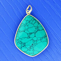 925 Sterling Silver Turquoise gemstone Pendant jewelry 7.52 g