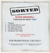 (EV512) Eleni Mandell, Thrill sampler 5 tracks - DJ CD