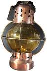 Copper/Brass Made Hong Kong Lantern  w/ Glass Globe