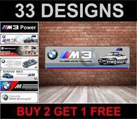 BMW E36 M3 Cabrio Banner für Werkstatt, Garage, Mann Höhle, M Sport, M Power