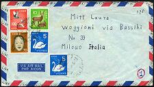 JAPAN 1975 Posta Aerea Coperchio per l'Italia #C 43264