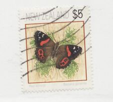 NEW ZEALAND  SC #1079 Θ used Red Admiral Butterfly postage stamp