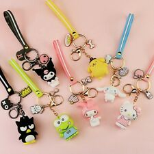 3D Hello Kitty My Melody Keroppi Kuromi Keychain Key Ring Purse Charm