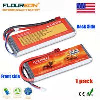 Floureon 3300mAh 2S1P 7.4V 35C LiPo Battery Deans Plug for RC Car Truck Airplane