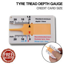 Tyre Tread Key Ring Tire Wood Depth Gauge Car Wheel Measurer Caliper Credit Card