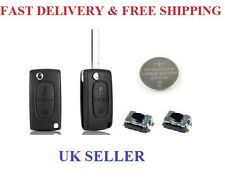 Peugeot 207   2 BUTTON FLIP REMOTE KEY FOB REPAIR KIT MICRO SWITCHES
