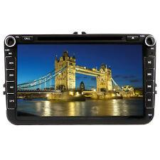 "UK 8"" Car Stereo DVD Player Radio GPS Sat Nav for VW Golf MK5 MK6 Skoda Seat EOS"